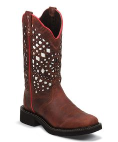 Look at this Justin Boots Redwood Gypsy Leather Cowboy Boot on #zulily today!