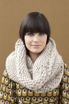 - Knitting cowls is my favorite item to knit. -