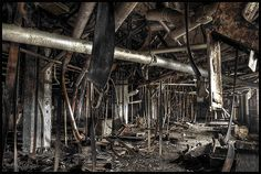 Industrial Entrails | Belts, pulleys & pipes. Many of the be… | Flickr