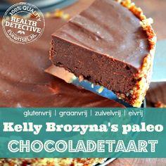 Heerlijk recept voor niet-moeilijk-te-maken chocoladetaart, echt een aanrader! --NL-- Yummy Healthy Snacks, Healthy Sweets, Healthy Baking, Healthy Food, Low Carb Crackers, Vegan Party Food, Wheat Free Recipes, Sweet Pie, Breakfast Dessert