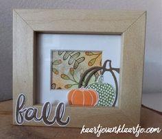 Kaartje van Klaartje: Pick a Pumpkin, Handlettered Alphabet, Stampin' Up!