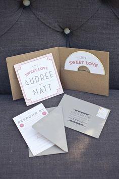 Cute invitations with custom CD :)