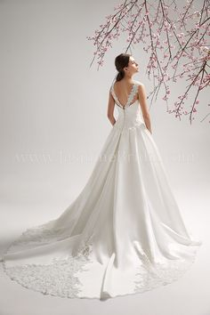 F151063 / Wedding Dresses / Jasmine Collection / Available Colours : Ivory, White (back)