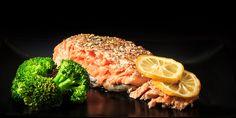 Roasted Salmon and Broccoli with Lemon Sauce