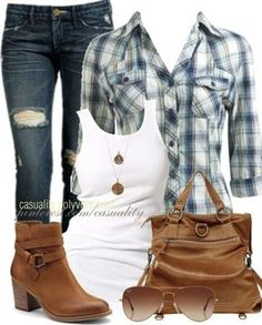 country girl style except cowboy boots instead of....those things.