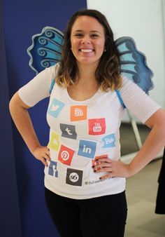 Our Social Media Coordinator as a Social Butterfly!