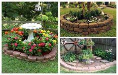 6 Εύκολοι τρόποι για να διαμορφώσετε Παρτέρια Outdoor Living, Outdoor Decor, Fountain, Flowers, Plants, Home Decor, Outdoor Life, Decoration Home, Room Decor