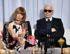 Anna Wintour & Karl Lagerfeld... Iconic, Legendary.