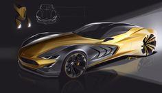 Car design sketches #1 on Behance