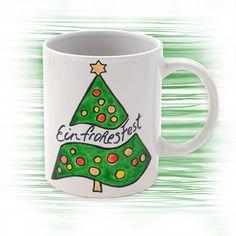 Mit bunten Porzellan-Stiften können Sie in nur wenigen Schritten eine weihnachtliche Tasse kreieren.