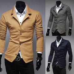 Men\'s Spring New Single Breasted Casual Knitted Suits