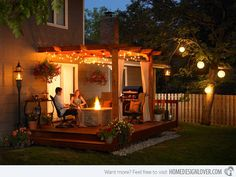 Now I want a pergola! outdoor patio pergola design and lighting ideas Multifunction Pergola Style For Outside Room interior design ideas Pergola Diy, Deck With Pergola, Outdoor Pergola, Outdoor Rooms, Pergola Ideas, Pergola Roof, Modern Pergola, Low Deck, Cheap Pergola