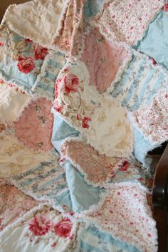 Baby Girl Rag Quilt Shabby Chic French Country by justluved, $79.00
