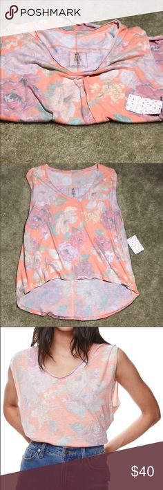 Free people high low top Beautiful top brand new with tags Free People Tops Tank Tops