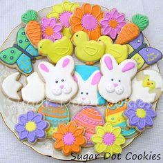 Sugar Dot Cookies: Easter Spring Decorated Sugar Cookies