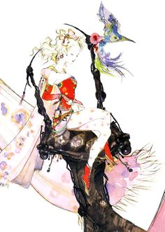 Terra Brandford concept art for FINAL FANTASY VI.