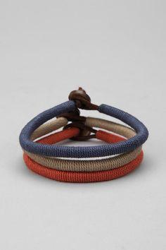Wrapped Leather Bracelet #bracelet #color #kysa