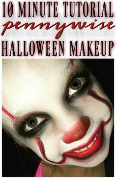 Kids Zombie Makeup, Halloween Makeup For Kids, Halloween Costumes Kids Boys, Halloween Kostüm, Halloween Decorations, Clown Makeup Tutorial, Makeup Tutorial For Kids, Creepy Clown Makeup, Pennywise Costume For Kids