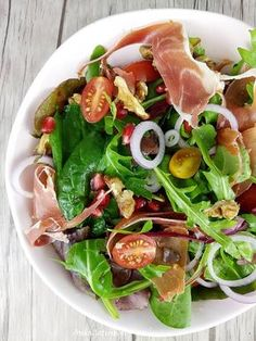 Pin on Beauty Pin on Beauty Appetizer Salads, Appetizer Recipes, Salad Recipes, Healthy Recipes, Ham Salad, Kitchen Recipes, Vegetable Dishes, Food Presentation, Good Food
