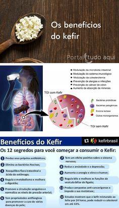 Kombucha Beneficios, Beneficios Do Kefir, Kefir Recipes, Milk Recipes, Healthy Recipes, Us Health, Health And Nutrition, Kefir How To Make, Vegan Keto