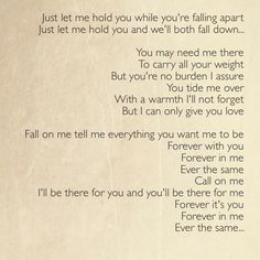 "....feel this song  ""Ever the same"" ~Rob Thomas"