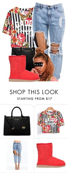 """"" by aaliyaharmstrong ❤ liked on Polyvore featuring MICHAEL Michael Kors and UGG Australia"