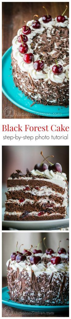Black Forest Cake 2 hrs to make, makes 12-14 slices