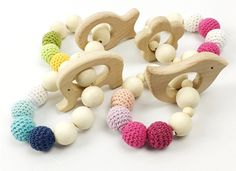bracelet baby on sale at reasonable prices, buy Let's Make Bead Teething Organic Wood Toy Bird Elephant Fish Flower Wood Bracelet Baby Mom Kids Wooden Teether Heart from mobile site on Aliexpress Now! Bracelet Bebe, Baby Bracelet, Wood Bracelet, Bracelets, Baby Baby, Mom And Baby, Teething Beads, Teething Toys, Cheap Baby Toys
