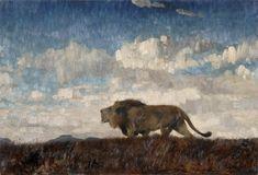 Wilhelm Kuhnert, Lion, 1865