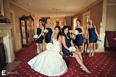 bride, bridesmaids, navy, white, side curls, long hair, long bridal hair, Erlowest, bridal hair, bridal Makeup, bridesmaid makeup, hair, dresses, wedding, best of the bridesmaids, Joe Elario Photography