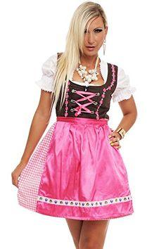 #4211 #Fashion4Young #Damen #Dirndl #3 #tlg.Trachtenkleid #Kleid #Bluse #Schürze…