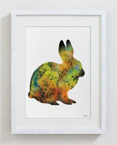 Hey, I found this really awesome Etsy listing at https://www.etsy.com/listing/151565471/rabbit-art-watercolor-painting-5x7