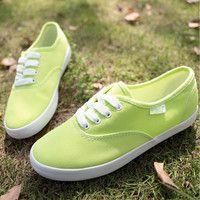 Fruit Green Canvas Shoes