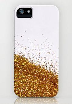 DIY gold glitter phone case