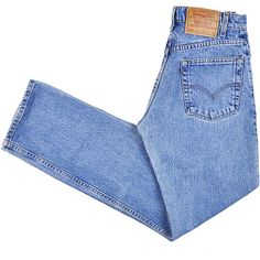 Size 29, Vintage Levi's 505 Jeans, Red Tab, 90s, High Waisted 1990s... (€36) ❤ liked on Polyvore featuring jeans, pants, bottoms, trousers, high rise straight leg jeans, vintage jeans, blue jeans, highwaist jeans and levi jeans