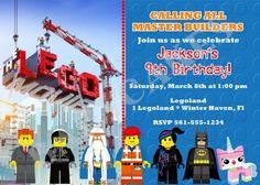 Lego Movie Birthday Invitation - DIY print your own