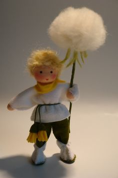 Blowball+Boy++Flower+Child++Waldorf++by+KatjasFlowerfairys+on+Etsy,+€32.00