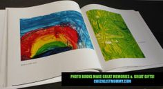 Photo books turn your kid's art into catalog-worthy museum pieces! Great gifts, great memories -- small footprint!