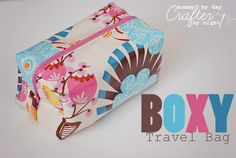 Boxy Laminated Travel Bag + Tutorial