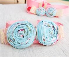 Soft Blue Shabby Chic #Dog #Collar for the whimsical beach themed wedding.