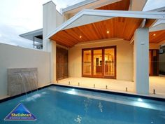 Pool ideas - Find pool ideas with of swimming pool photos Swimming Pool Plan, Swimming Pool Photos, Alfresco Area, Small Backyard Pools, Cool Pools, Pool Landscaping, Pool Designs, Garden Furniture, Landscape Design