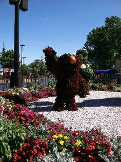 Sesame Place: Elmo greats you at the park entrance!