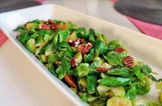 paahdettu ruusukaali saksanpähkinöillä, brussels sprout