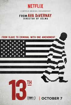 "The title of Ava DuVernay's extraordinary and galvanizing documentary refers to the 13th Amendment to the Constitution, which reads ""Neither slavery nor involuntary servitude, except as a punishment for crime whereof the party shall have been duly convicted, shall exist within the United States."" The progression from that second qualifying clause to the horrors of mass criminalization and the sprawling American prison industry is laid out by DuVernay with bracing lucidity. With a potent…"