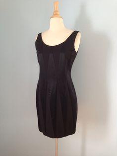 Vintage black dress / 80s little black dress / Satin by LivedIn