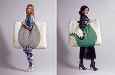 Diseños de bolsas muy ingeniosas.   Quiero más diseño