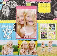 Color Vibe Rewards Club Sweet X2 Scrapbook Layout Page Idea from Creative Memories www.mycmsite.com/jennifernino Rewards Club Exclusive!