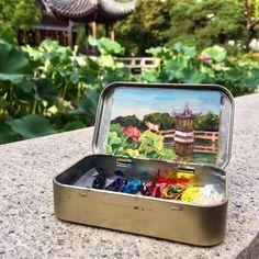 "493 Me gusta, 16 comentarios - Heidi Annalise (@heidi.annalise.art) en Instagram: ""Road Trip Day Seven: painting lotus flowers in Portland's Chinese garden, a little spot of zen in…"""