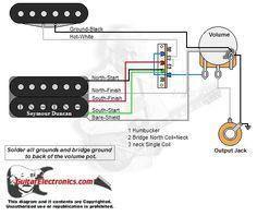 1 Humbucker/2 Single Coils/5Way Switch/1 Volume/1 Tone/02