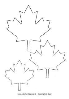 How about decorating your windows for Canada Day? Use this free maple leaf template to trace and cut paper leaves for flags, banners and buntings.
